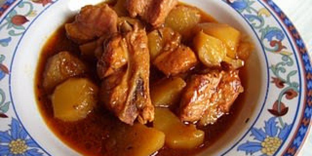 Costillas de cerdo con patatas chiclana - Patatas con costillas de cerdo ...
