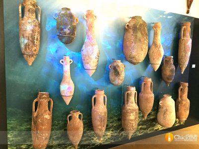 Ánforas submarinas en Chiclana (recreación)