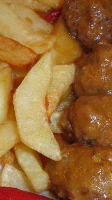 Albóndigas de pollo con Jamón