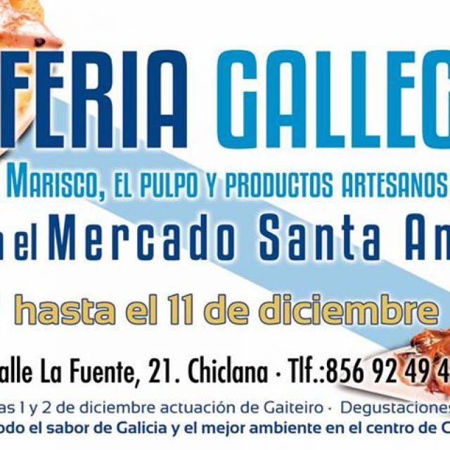 I Feria Gallega en el Mercado Santa Ana