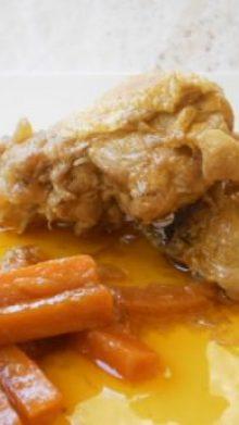 Pollo en escabeche al estilo de Chiclana