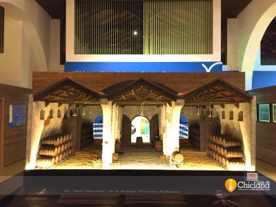 Representación de las bodegas Miguel Guerra recreadas por la asociación de belenistas de Chiclana