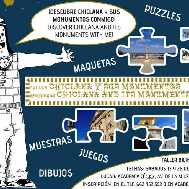 Taller bilingüe para niños «Chiclana y sus monumentos»