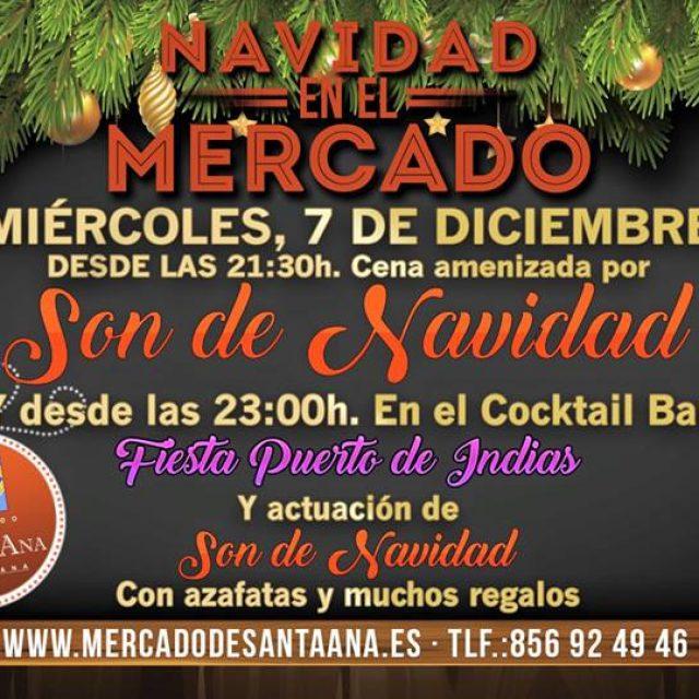Cena y Fiesta Navideña en el Mercado Santa Ana