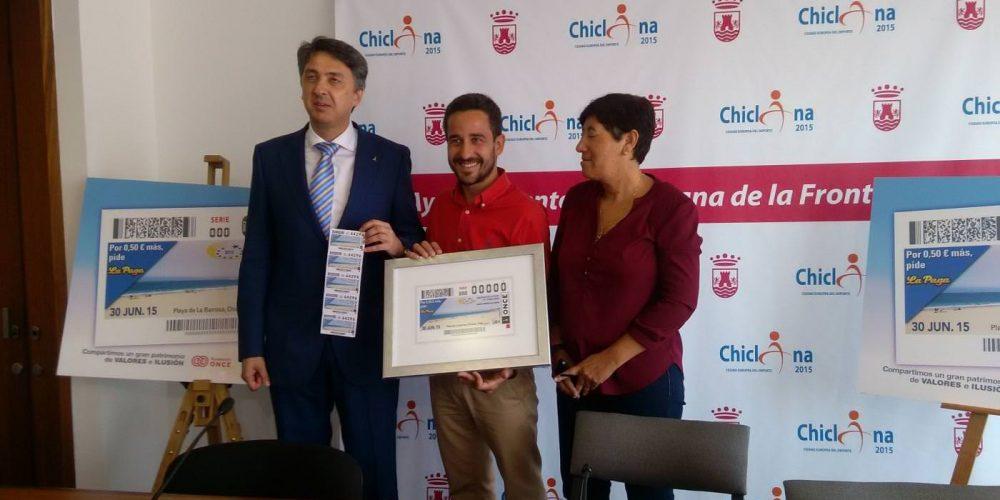 La ONCE distribuye hoy sus cupones con la imagen de Chiclana