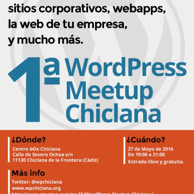 WordPress Meet Up Chiclana