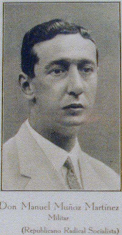 Manuel Muñoz Martinez, Diputado de la Segunda República