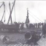 Muelle y descarga en Sancti Petri, fotografía antigua